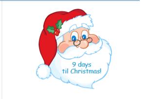 Santa Christmas Countdown Widget