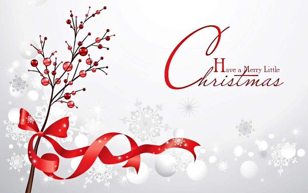 Merry Christmas Snow Fall HD Wallpaper