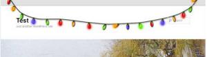 Xmas Light banner