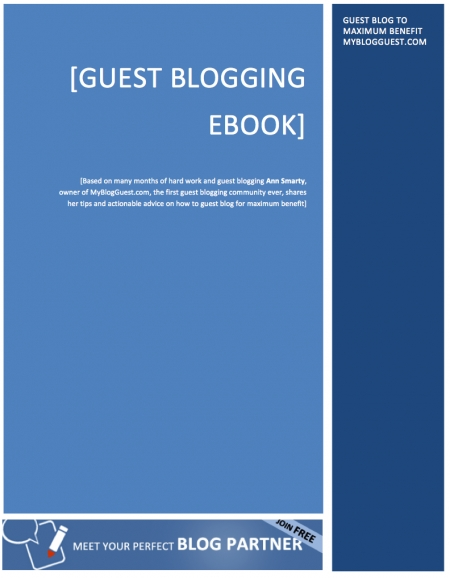 Free Guest Blogging E Book
