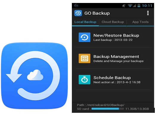 GO Backup & Restore UI
