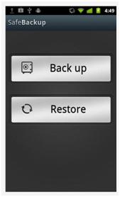 Safe Backup UI