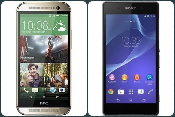 The HTC One (M8) and the Sony Xperia Z2