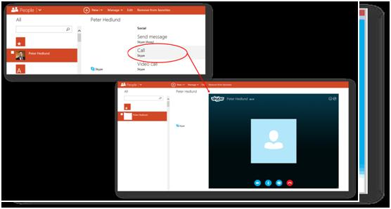 Make skype call now from Outlook