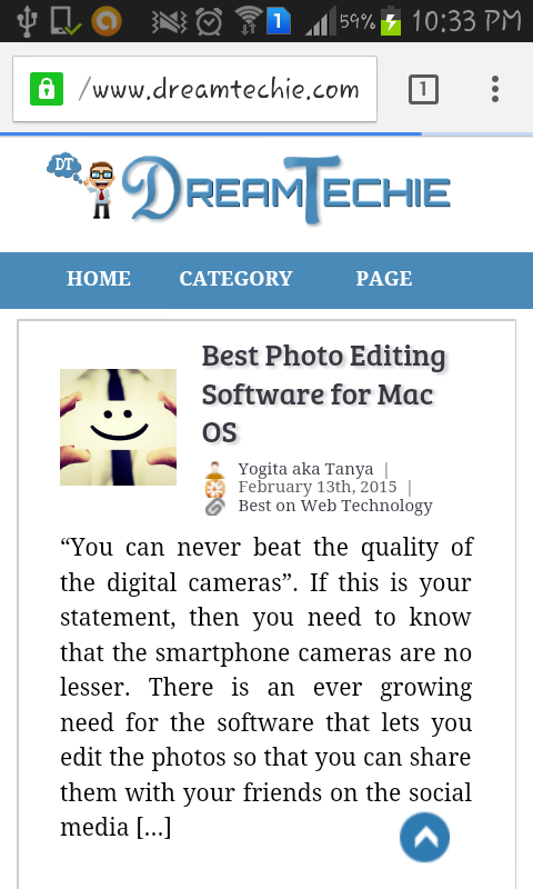 Dreamtechie mobile website