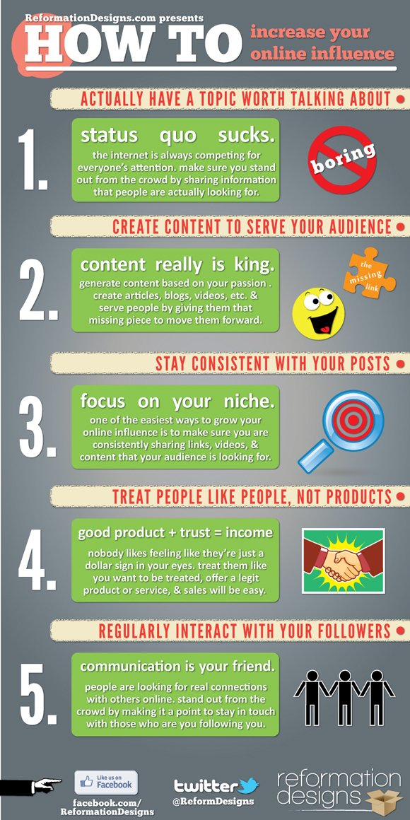 5 Easy Steps To Increase Your Online Influence [Infographic]