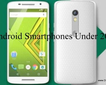 Android Smartphones Under 20K