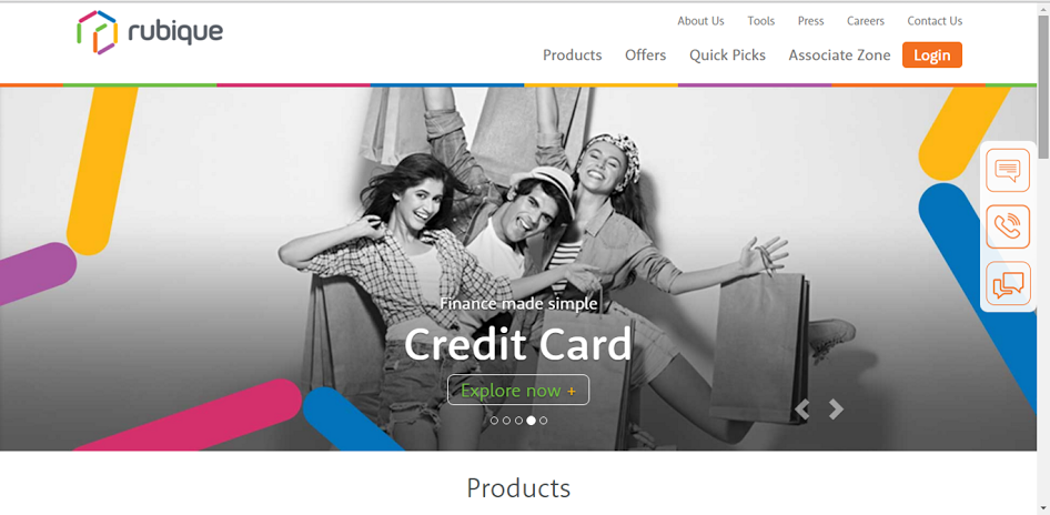 Rubqiue is an online marketplace for financial products