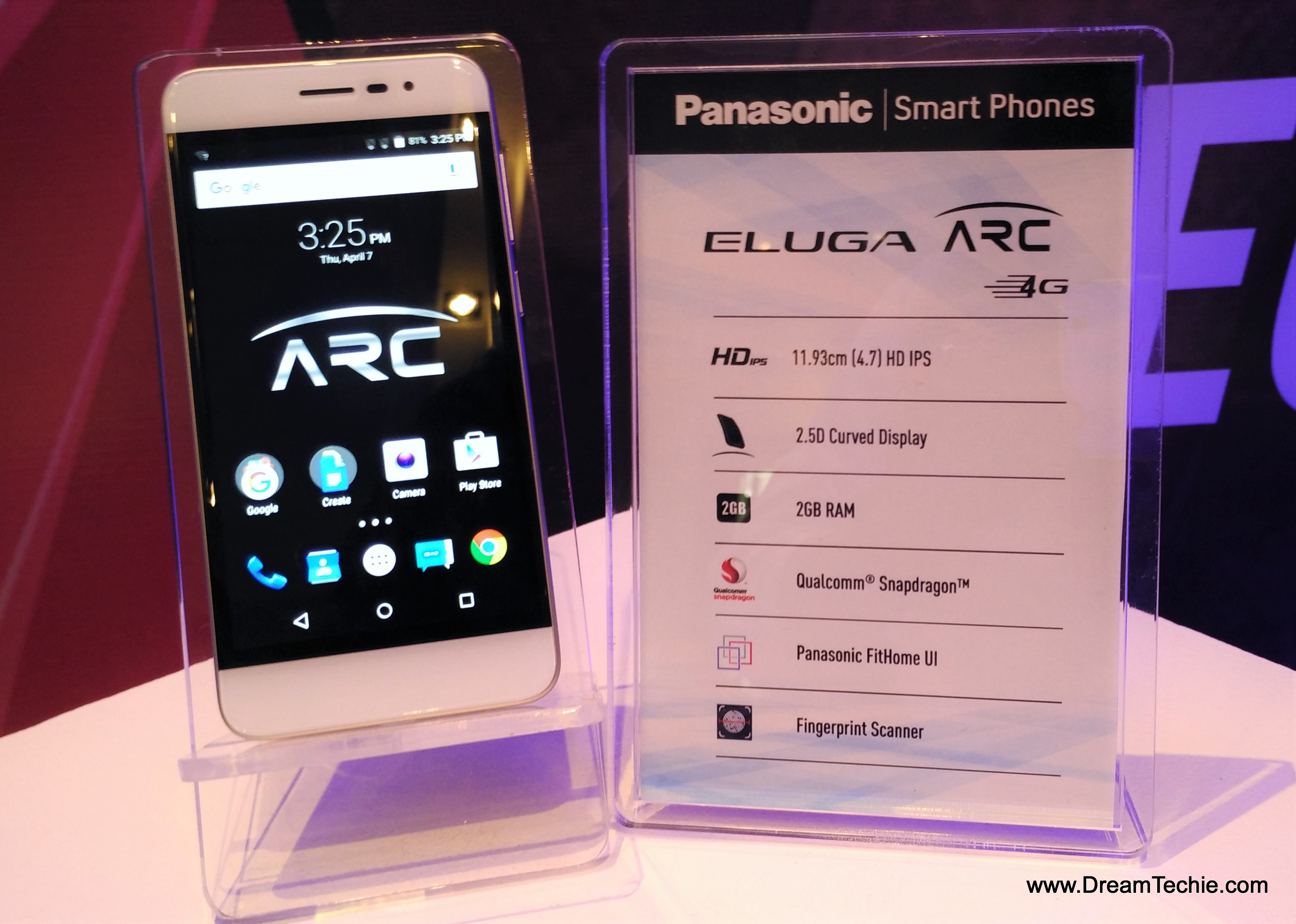 Panasonic Eluga Arc Specifications and price
