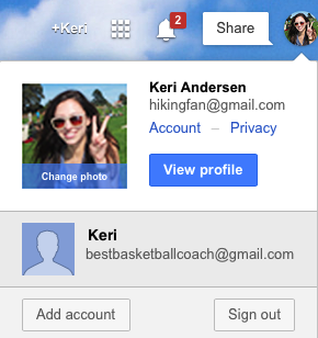 How to use multiple gmail accounts