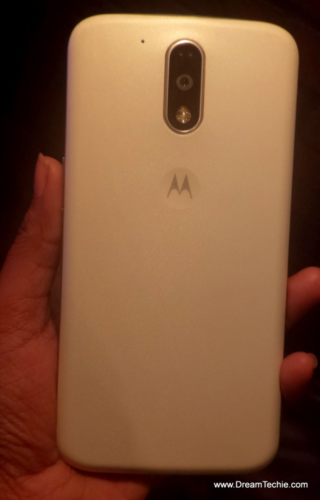 Moto G4 Plus White Back Design