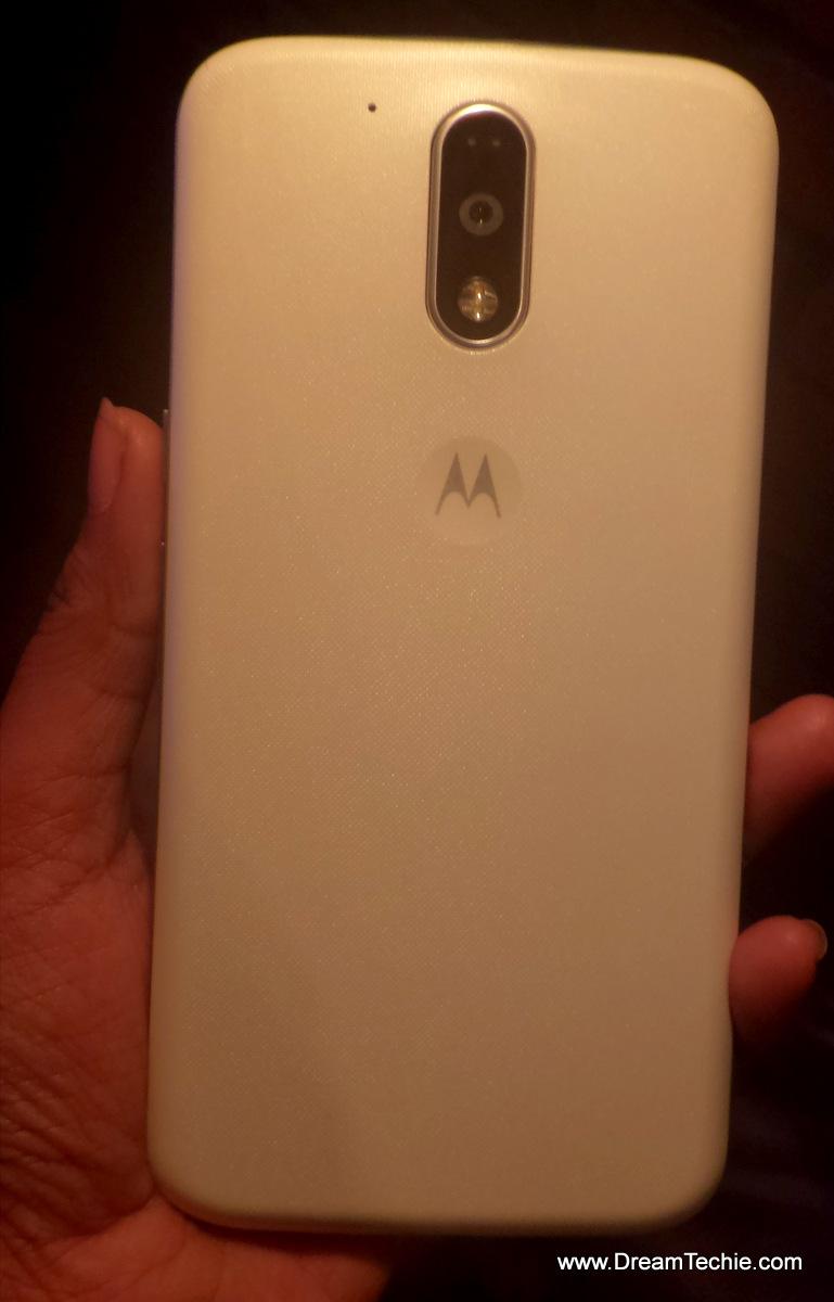 Moto G4 Plus White Back Design