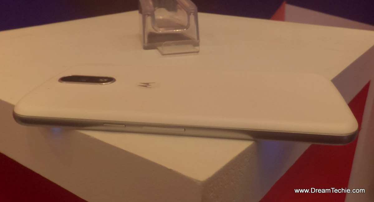 Moto G4 Plus White Side View