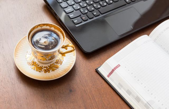 Say no to Coffee at Laptop Table