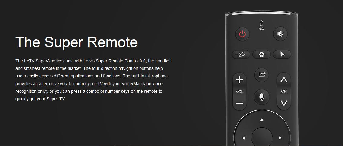 LeEco Super 3 X 65  - Smart Remote