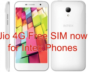 Jio 4g Free SIM now for Intex Phones